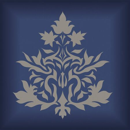 flair: Ornament isolated on vintage background Illustration