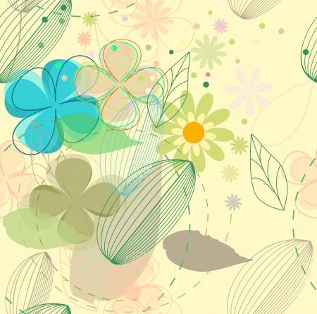 clip art draw: Flower background