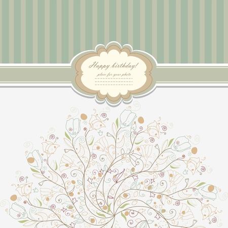 Beautiful baby invitation card background  Vector