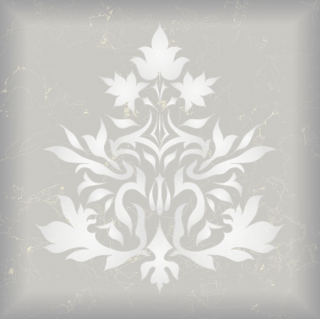 flair: Vintage Ornament isolated on vintage background