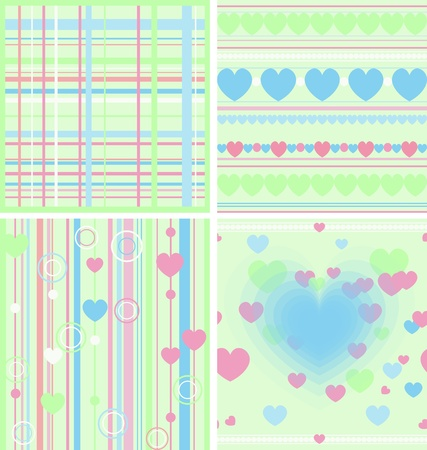 Set of Baby seamless  raster version   Vector version is also available  Vector