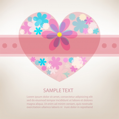 Romantic scrapbooking for invitation, greeting, birthday, label, postcard, congratulation, frame, gift and etc   Vector
