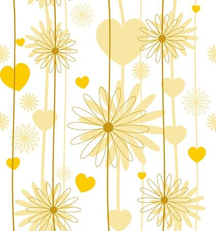 Set of four Seamless flower texture  vector eps 8 Stock Vector - 14487763
