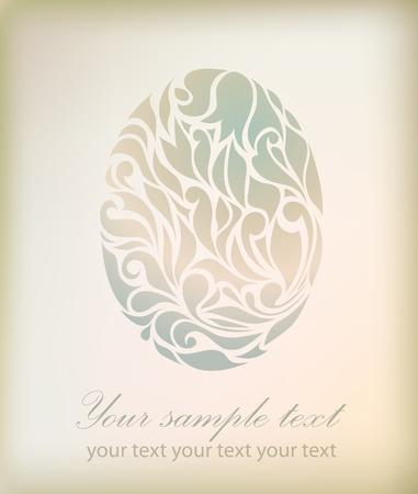 Vintage egg isolated on background. Perfect for element design, web, sign, symbol, icon, logotype, logo, emblem, label   Vector