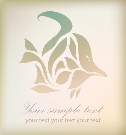 interlace: Illustrazione pesce perfetto isolato su sfondo. Perfetto per elemento di design, web, segno, simbolo, icona, simbolo, etichetta