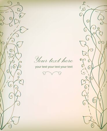Retro floral background for card  Vector