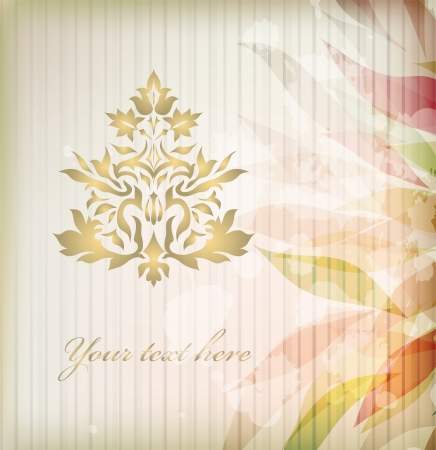 Vintage Ornament illustration isolated on background Stock Vector - 14574248