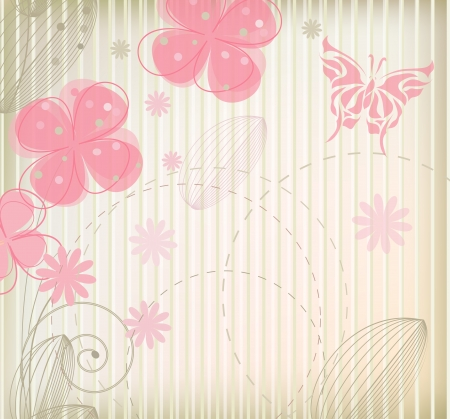 Fashion flower background   Vector