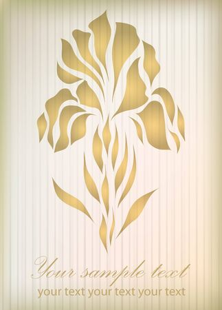 Vintage gold illustration isolated on gold background Vector