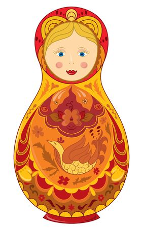 Russian doll national symbol Matryoshka  Vector