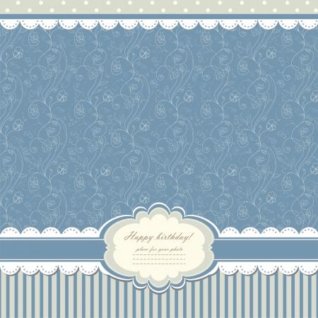 bebe azul: Beb� azul fondo de la vendimia Vectores