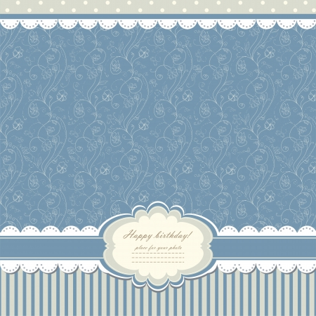 Blue baby vintage background  Vector
