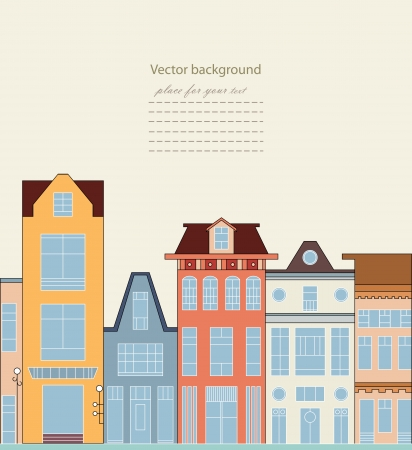 Happy colorful doodle town  Vector