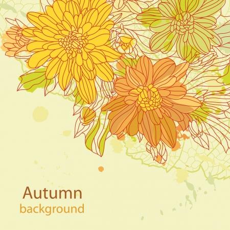Orange autumn arrière-plan parfait