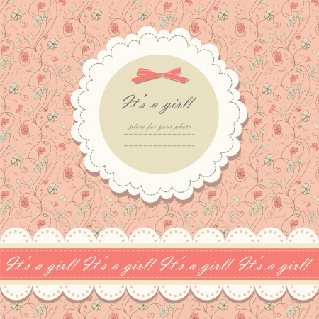 Color pink floral background  Vector