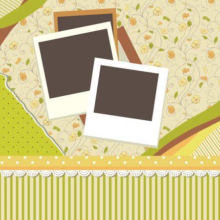 Abstract banner retro card  Vector