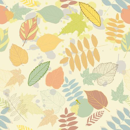 leave: Vintage autumn seamless pattern  Illustration