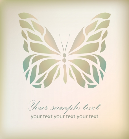 butterfly vector: Retro floral butterfly background vector eps 10 Illustration