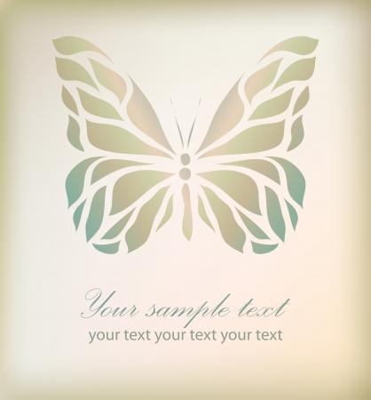 farfalla tatuaggio: Retro floreali farfalla sfondo eps Vector 10