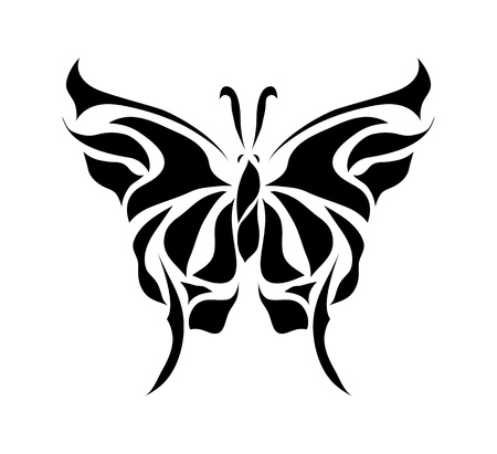 Retro floral vlinder achtergrond vector eps 8