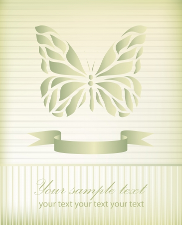 Retro floral butterfly background vector eps 10 Vector