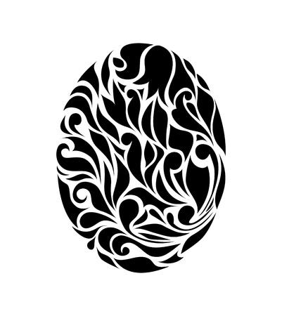 waive: Vintage black egg background vector eps 8