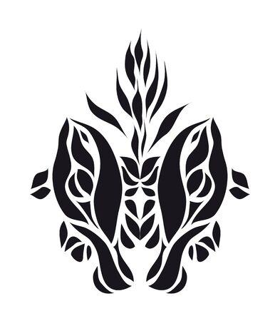 Art black fish background vector eps 8 Stock Vector - 15502752