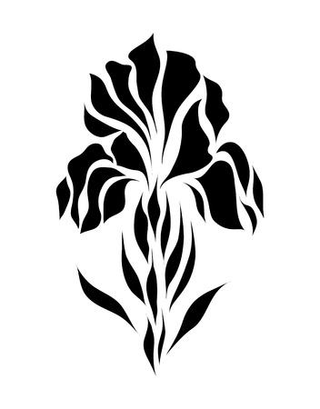 interlace: Vintage retr� fiore fiore vettoriale EPS 8 Vettoriali