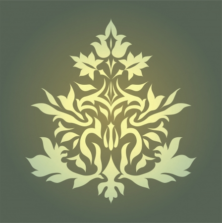 Vintage damask ornament background vector eps 10 Vector