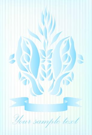 Art blue fish background Stock Vector - 15274103