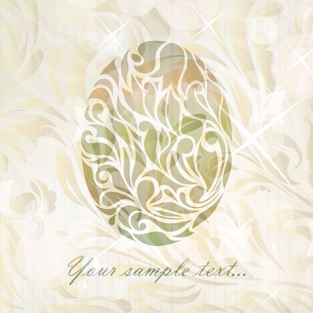 Vintage wedding egg background  Vector