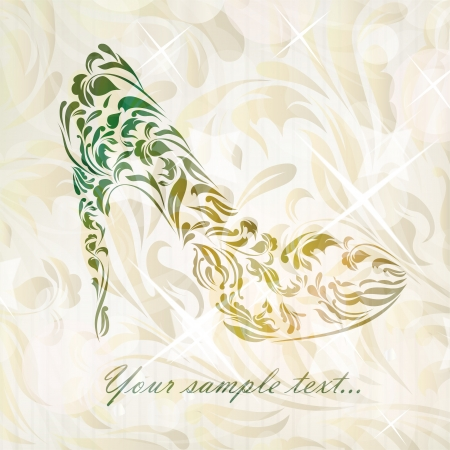Beautiful fashion shoes background  Vector