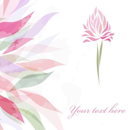 iris flower: Vintage retro flower blossom Illustration