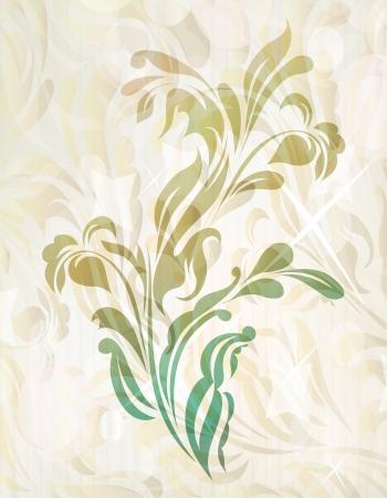 Vintage retro flower blossom  Vector