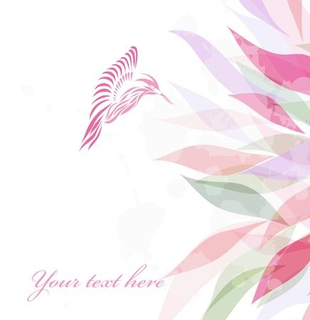 humming: Rosado hermoso colibr� fondo