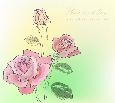Vintage hand drawing rose Vector