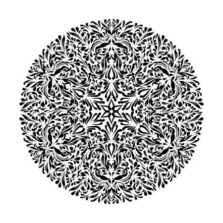 Monochrome black and white lace ornament Stock Vector - 16313245