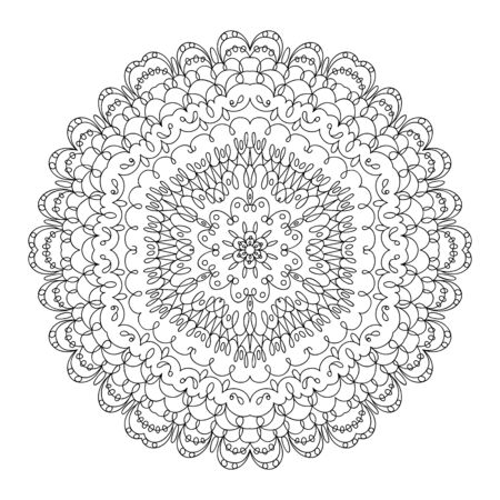Monochrome black and white lace ornament Stock Vector - 16313243