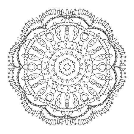 Monochrome black and white lace ornament Stock Vector - 16313242