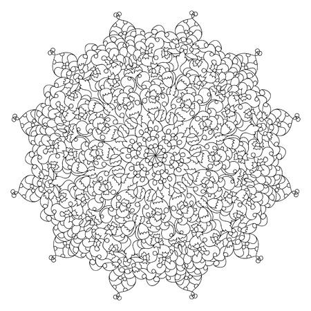 Monochrome black and white lace ornament Stock Vector - 16313253