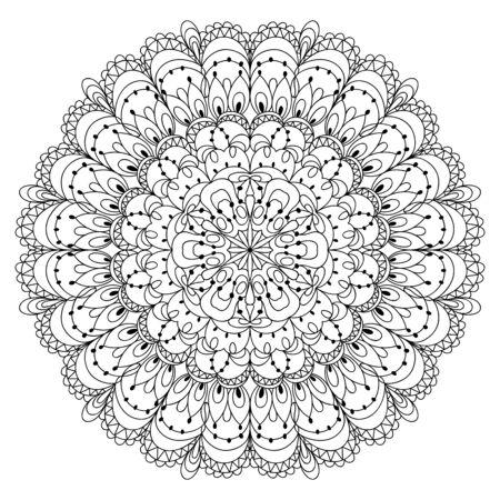 Monochrome black and white lace ornament Stock Vector - 16313241