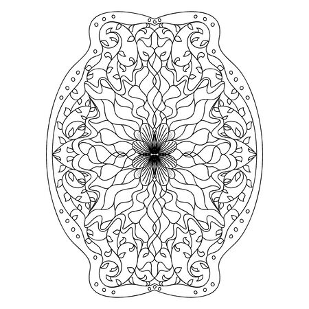 black and white image: Monochrome black and white lace ornament