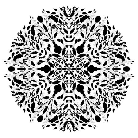 Monochrome schwarzen und weißen Spitzen Ornament