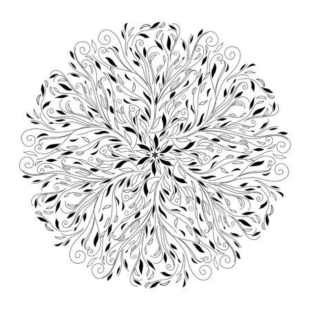 Monochrome black and white lace ornament Stock Vector - 16313240