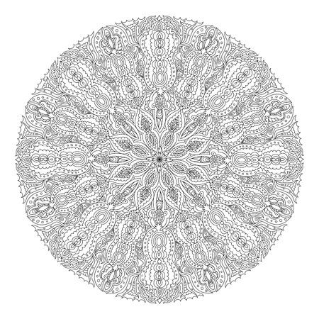 Monochrome black and white lace ornament Stock Vector - 16313251