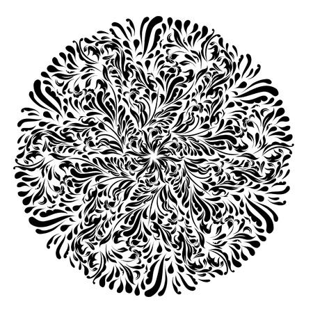 Monochrome black and white lace ornament  Stock Vector - 16313178