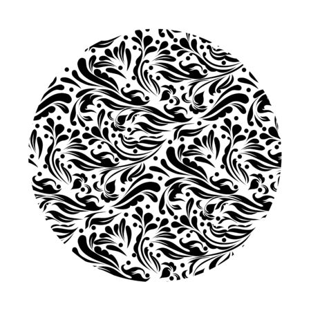 Monochrome black and white lace ornament Stock Vector - 16313182