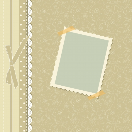 photo backdrop: Retro baby frame vintage photo Illustration