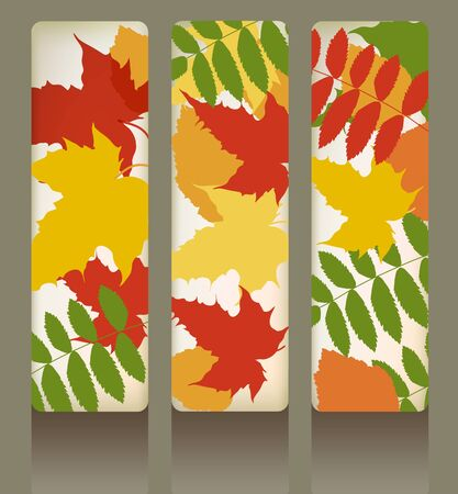 Autumnal leave business card Stock Vector - 16313393