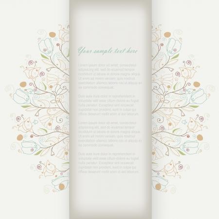 flores de cumpleaños: Tarjeta linda del doodle de negocio de flores Vectores